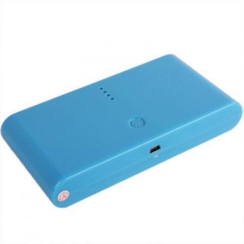 20000mAh Dual-USB Smart Mobile Power Bank External Battery with Nine Kinds of Connectors for iPhone 5 / 4 & 4S / New iPad / iPad 2 / PSP / Digital Cameras / Other Mobile Phones(Blue)