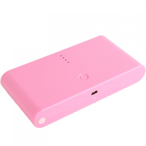 20000mAh Dual-USB Smart Mobile Power Bank External Battery with Nine Kinds of Connectors for iPhone 5 / 4 & 4S / New iPad / iPad 2 / PSP / Digital Cameras / Other Mobile Phones(Pink)